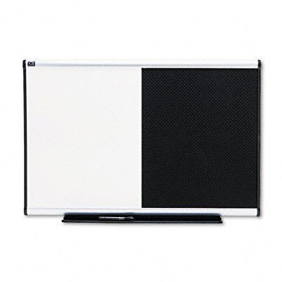Quartet BTE643A Quartet Dry-Erase/Bulletin Board, Embossed Foam, 36x24, BLK/WE, Aluminum