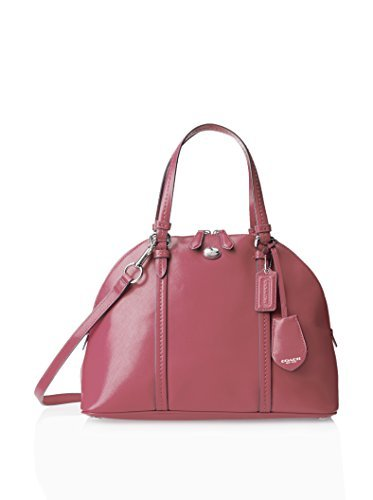 Coach Peyton Strawberry Pink Saffiano Leather Cora Domed Satchel - Style 25671 by Coach