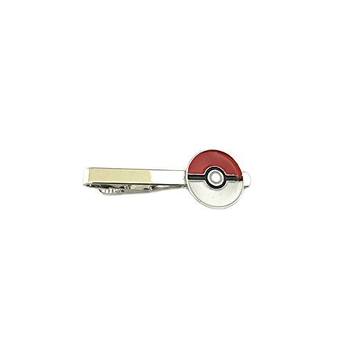 [Pokemon Pokeball Silver Tone Men's Boy's Tie Bar w/Gift Box By Superheroes] (Punisher Cosplay Costume)