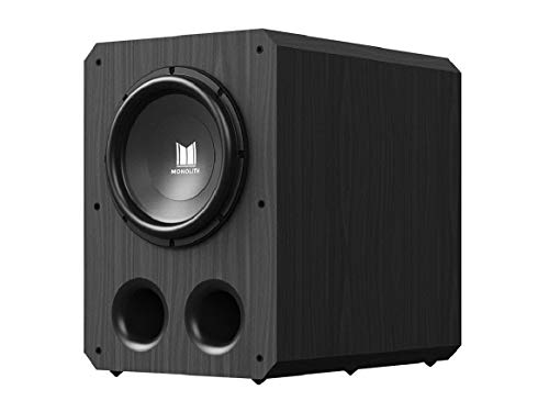 10' Neodymium Woofer - Monolith 12 Inch Powered Subwoofer - Black | THX Select Certified, 500 Watt Amplifier, 12 Inch Driver for Studio & Home Theater