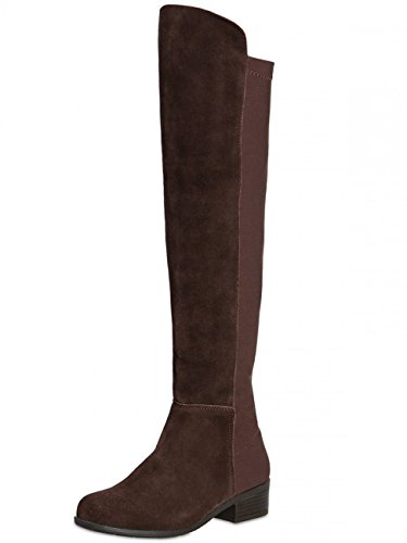 Women SBO062 Riding Brown Dark Boots CASPAR Y1Zw5qq