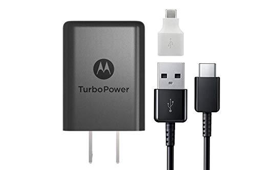 Motorola 15w TurboPower TYPE C Charger - With Google C USB Adapter, Stylus For Moto X4, Z2
