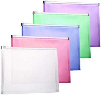 TIENO Plastic Envelopes Colorful Organize product image
