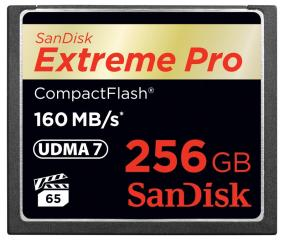 SanDisk Extreme PRO CompactFlash Memory Card (256 GB)