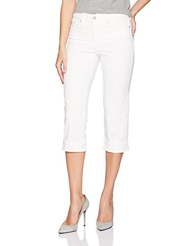 NYDJ Women's Marilyn Crop Cuff Jean, Optic White, 0