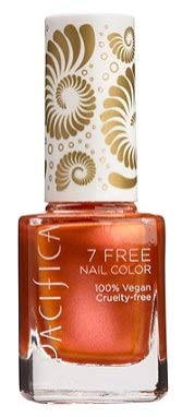 Pacifica 7 Free Nail Polish Collection Eternal Flame (Bright Copper) 0.45 oz, Pack of 1