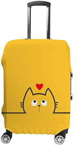 スーツケースカバー トラベルケース 荷物カバー 弾性素材 傷を防ぐ ほこりや汚れを防ぐ 個性 出張 男性と女性かわいい猫