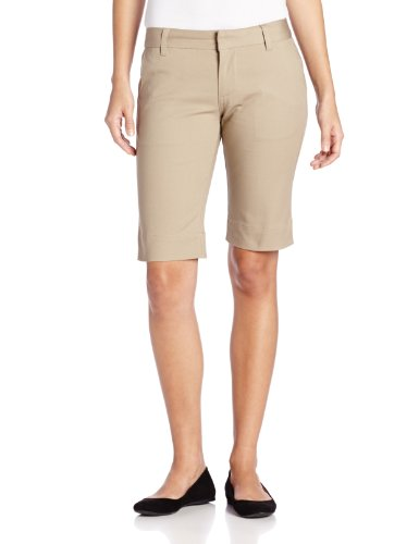 LEE Uniforms Juniors 13 Inch Bermuda Short, Khaki, 5