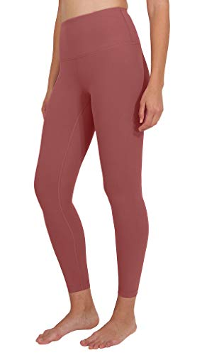 Coral Pink Sand - 90 Degree By Reflex High Waist Power Flex Legging - Tummy Control - Coral Sand Ankle - Small