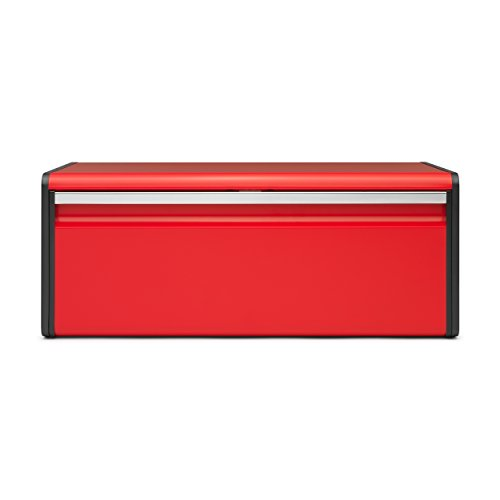 - Brabantia Fall Front Bread Bin, Breadbox, for the Kitchen, Metall, Passion Red, 484025