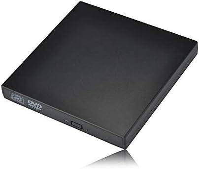 外付け光学ドライブ ノートPC用DVD-COMBOプレーヤーのUSB 2.0外付け光学ドライブ 高速 静音 超スリム (Color : Black, Size : One size)