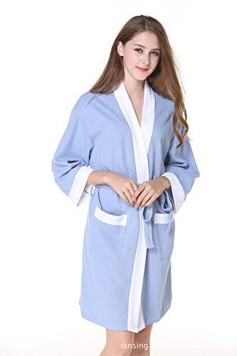 Cinturón de Lujo para Damas, Albornoces y algodón, para Mujer - Batas de baño Suaves, absorbentes y cómodas para el Gimnasio Ducha SPA Hotel Robe Holiday ...