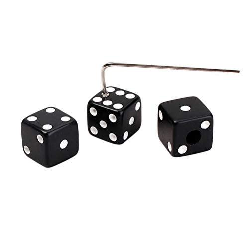 Healifty Dice Shaped Control Knobs with Truss Rod Wrench Fit Split Shaft Gibson Gretsch Fender Guitars (Black)