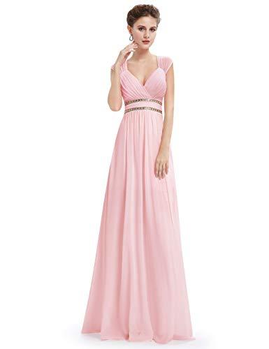 Fiesta V pretty Vestido Noche Rosa Para Cuello Elegante De En Mujer Con Ever 08697 wgfqBxq