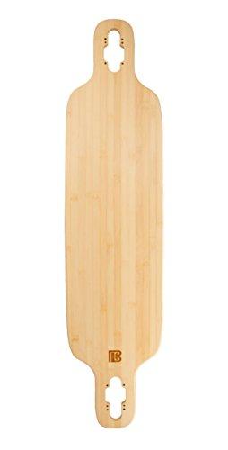 Bamboo Skateboards Twin-Tip Drop Through Blank Skateboard Deck, 40
