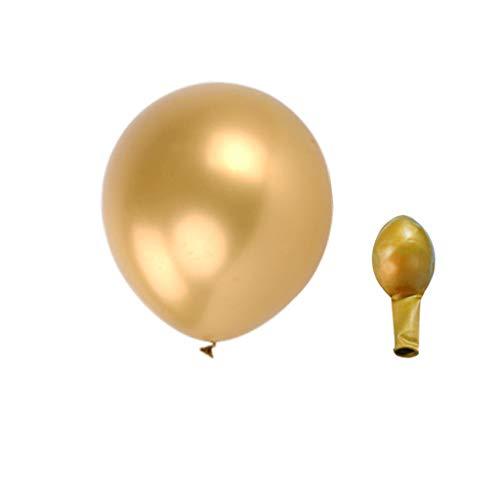 (❀ liyeziaaa ❀ Shiny Metallic, 50Pcs Chrome Shiny Metallic Latex Balloons for Birthday Wedding Grad Party)