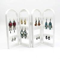 Acturen White 4228cm Creative Screen Jewelry Rack 240 Holes Plastic Ear Nails Earrings Display Frame Receiving Box Home Furnishing 1pc C171