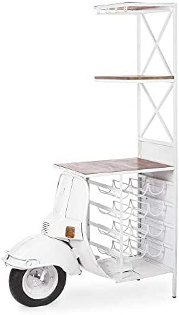 ARREDinITALY - Mueble de Bar con Estructura de Acero Barnizado ...