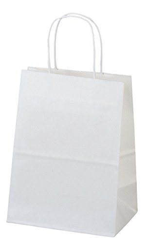 Halulu White Kraft Paper Bags, Shopping, Mechandise, Party, Gift Bags - 8