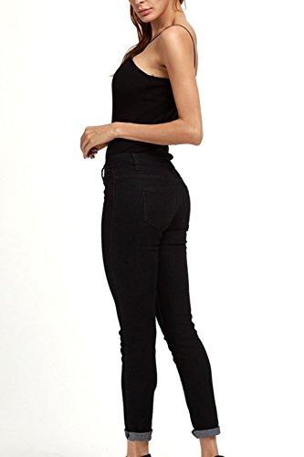 Stretch Taille De Rgulirement La Slim Et Pantalons Femmes En Black Les Jean Legging Pantalon Des xg81qwFP