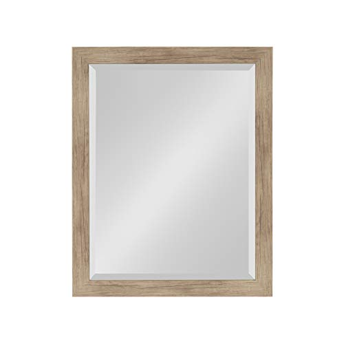 DesignOvation Beatrice Framed Wall Mirror 21x27 Rustic - Rectangular Mirrors Bathroom Wooden