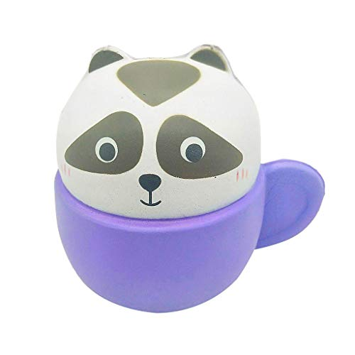 (Children's Adult Toys Cute Animal Cup Combination Slow Rebound Kids's Educational Decompression Toy (Purple,)