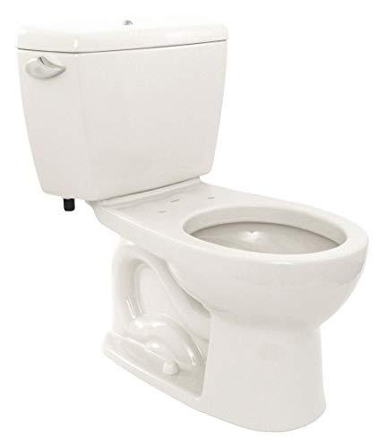 Flush Cotton 1.6 Gallon - Two Piece Tank Toilet, 1.6 Gallons per Flush, Cotton