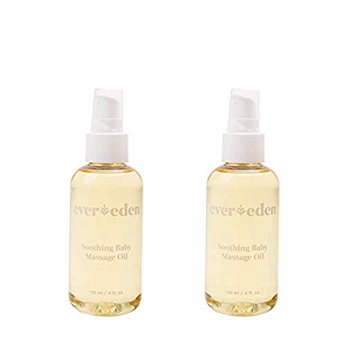 Evereden Soothing Organic Baby Oil – Natural Baby Oil & Bath Oil for Dry Skin Care and Cradle Cap, Fragrance Free Skin Oil with Avocado Oil and Sunflower Oil for Baby Care & Eczema Relief (2 Pack)