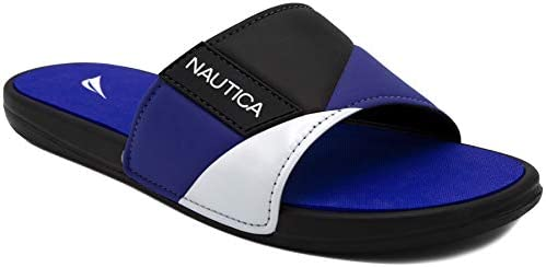 d9128705f288b Nautica Men's Athletic Slide, Strap Comfort Sandal-Gantry-Black-9 ...