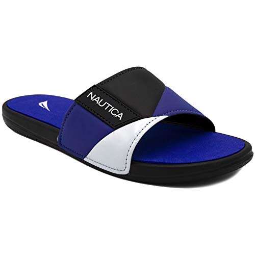 Nautica Men's Athletic Slide, Strap Comfort Sandal-Gantry-Black-13