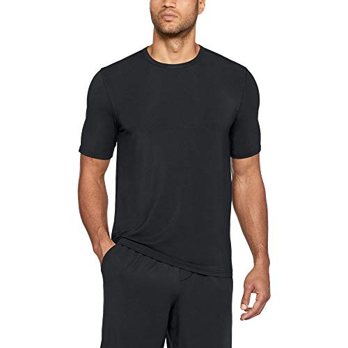 thlete Ultra Comfort Recovery Short sleeve Sleepwear,Black /Carbon Heather, Large ()