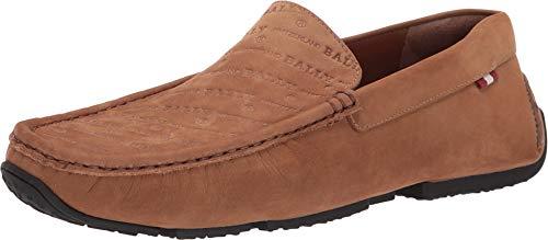 BALLY Men's Pico Loafers, Cowboy, Tan, 10 M US