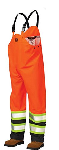 Tough Duck Men's Type 3 Flame Resistant Rain Overall, Fluorescent Orange, X-Large by Tough Duck