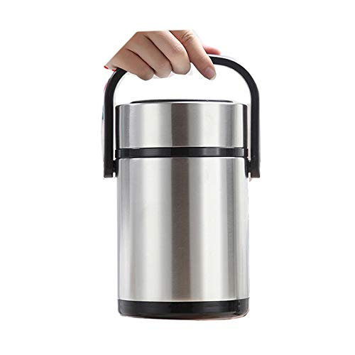 Mr.Dakai 18/8 Stainless Steel Double-Wall Vacuum Food Container-Multi-Layer Insulated Thermal Insulation Food Container Storage Carrier Keep Warm 12 hours - Large Capacity