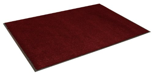 Durable Spectra-Olefin Indoor Vinyl Backed Carpet Entrance Mat, 3' x 4', Red