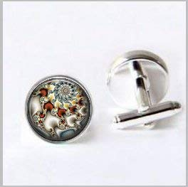 - Abstract Cufflinks Pocket,Dragonfly Cufflinks Pocket,Glass Abstract Jewelry Cufflinks