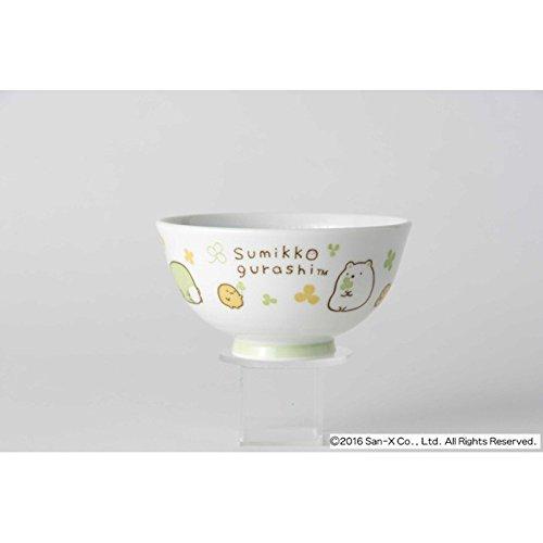 [2 bowls set!!] San-X Sumikko Gurashi Japanese Rice Bowl & Japanese Soup Bowl Set for Kids White & Green by San-X (Image #3)