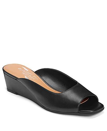 Aerosoles Women's Magnet Sandal, Black Leather, 7.5 M US