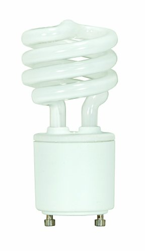 Satco S8203 13 Watt (60 Watt) 800 Lumens Mini Spiral CFL Soft White 2700K GU24 Base Light - Satco Compact
