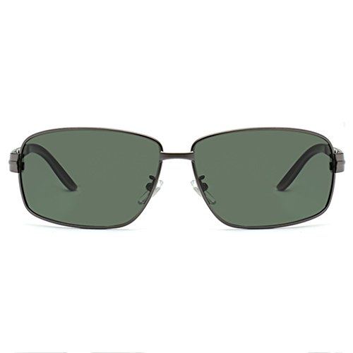 Frame Gafas aleación Hombres MG conducción TP Sol 100 Al Rectangular los de Superlight de Green Color Negro Polarized de UV Oxd7q4gBw