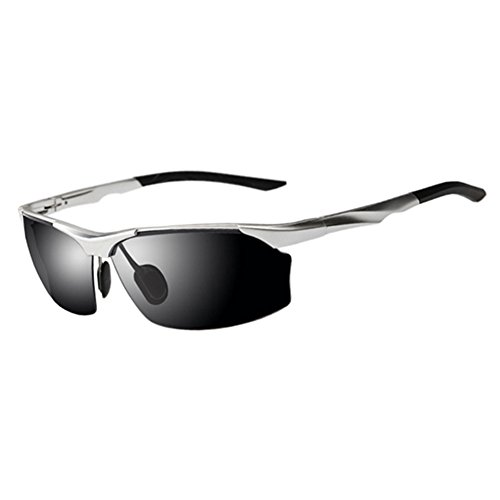 Gafas Medio Color Anti Plata Libre Marco Protección Luz Clásico Conducción Solar Gafas Protección 100 Gafas WYYY Hombres UVA Sol La De Aire Gris UV De Polarizada AwW8Bdq
