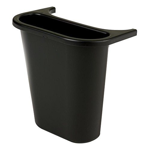 (Rubbermaid Plastic Bin Recycling Containers, Saddle, 1 Gallon, Black)