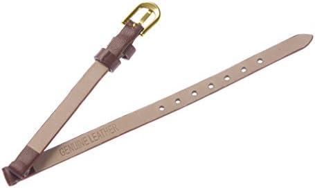 Uyoung Bracelet de montre fin en cuir véritable marron 6 mm pour femme