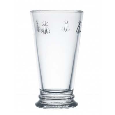 La Rochere, Set of 6, Tall Drinking Glasses (6.3'' Tall - High Ball), 15.6 Oz Each, Napoleonic Bee Pattern by La Rochére