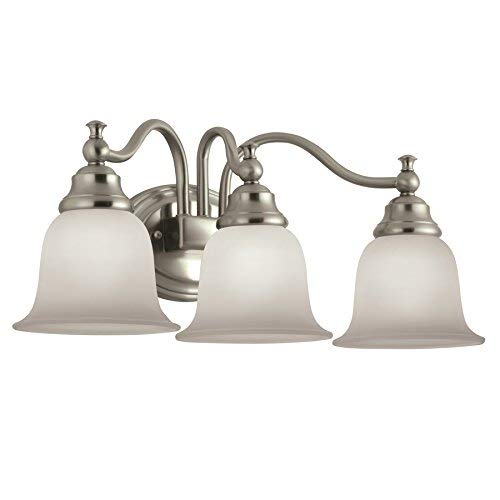 Portfolio 3-Light Brandy Chase Brushed Nickel Bathroom Vanity Light