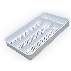 Dial Industries B694W Small Mesh Cutlery Organizer Tray, White