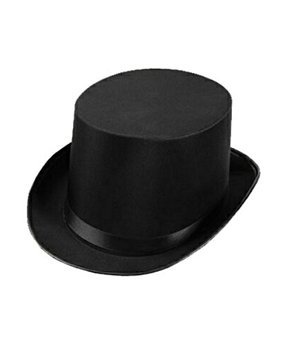 Costumes Black Butler (Steampunk Top Hat-Black Felt Top Hat, Costume Dress Up Party Hat for Halloween and Cosplay for Adults and Big Kids (Black Top Hat))