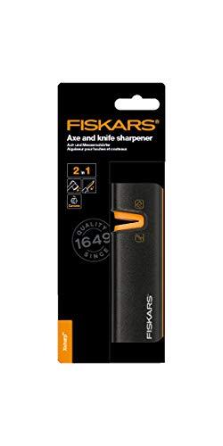 Fiskars Affilalama per asce e coltelli, Mola in ceramica/Scatola in plastica rinforzata con fibra di vetro, Nero… 6