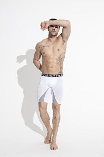 (リッキー&ベンズ) Ricky&Bens メンズ吸汗速乾タイトカラーマッチングコンプレッションスポーツショーツ