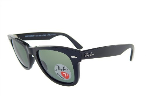 Ray Ban RB2140 901/58 Orginal Wayfarer Black/G-15 XLT Polarized 50mm Sunglasses (Ray-ban Rb2140 50 Original Wayfarer)